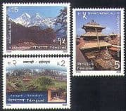Nepal 2001 Mountains  /  Nature  /  Tourism  /  Fort  /  Temple  /  Buildings  /  Architecture 3v n37200