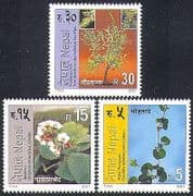 Nepal 2001 Plants  /  Flowers  /  Trees  /  Nature  /  Herbs  /  Medicinal 3v set (n37177)