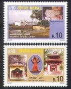 Nepal 2004 Tourism  /  temple  /  Buildings  /  Architecture  /  Religion  /  Heritage 2v set n39525