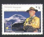 Nepal 2007 Scouts 100th  /  Baden Powell  /  Mountain  /  Youth  /  Leisure 1v (n34498)