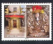Nepal 2010 Temple  /  Buildings  /  Architecture  /  Ganesh  /  Elephant  /  Religion 1v (n38947)