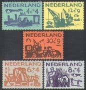 Netherlands 1959 Relief Fund  /  Sea Defence  /  Ships  /  Environment  /  Transport 5v (n37984)