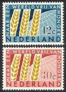 Netherlands 1963 FAO  /  FFH  /  Freedom From Hunger  /  Wheat  /  Crops  /  Plants 2v set (n40988)