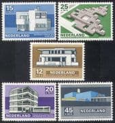Netherlands 1969 Welfare Fund  /  Buildings  /  Architecture  /  Architects 5v set (n39412)