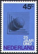 Netherlands 1970 United Nations 25th Anniversary/ UN Day/ Globe/ Animation 1v (n32975)
