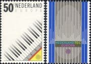 Netherlands 1985 Europa/ Music Year/ Piano Keyboard/ Organ Pipes 2v set (s1028c)