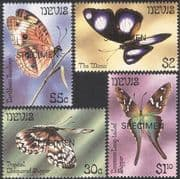 Nevis 1983 Butterflies/ Insects/ Nature/ Conservation SPECIMEN o/p 4v set (b1296)