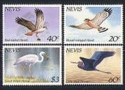 Nevis 1985 Birds  /  Nature  /  Hawks  /  Herons  /  Nature 4v (n31428)
