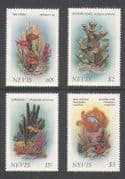 Nevis 1986 Fish  /  Corals  /  Sponges  /  Marine 4v set (n20785)