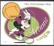 Nevis 1998 Disney  /  Mickey Mouse  /  Basketball  /  Sports  /  Games  /  Animation 1v m  /  s (d00239)