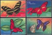Nevis 2001  Butterflies/ Insects/ Nature/ Conservation/ Butterfly  4v set (b1296a)