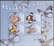 Nevis 2003 Butterflies/ Insects/ Nature/ Conservation/ Butterfly 4v sht (s6251)