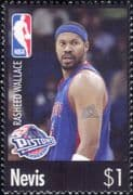 Nevis 2006  Rasheed Wallace/ Basketball/ Sports/ Games/ People/ Sportsmen  1v (s1968k)