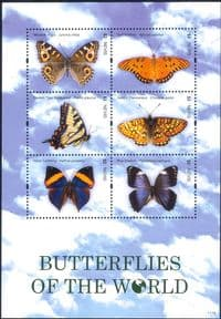 Nevis 2011  Butterflies/ Insects/ Nature/ Butterfly/ Conservation  6v m/s  (s3781s)