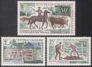 New Caledonia 1969 Farm Animals/ Cattle Breeding/ Cows/ Horses/ Nature 3v set (n42110)