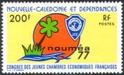 New Caledonia 1977 Chambers of Commerce Congress/ Palm Tree/ Emblem 1v (n42131)