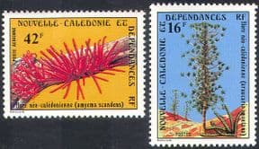 New Caledonia 1978 Conifers/ Pines/ Trees/ Parasitic Plants/ Flowers/ Nature 2v set (n42138)