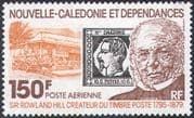 New Caledonia 1979 Sir Rowland Hill/ S-on-S/ Post Office/ Horse/ Mail Cart/ Palm Trees/ Buildings/ Transport 1v (n42132)