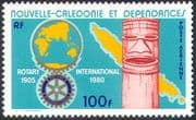 New Caledonia 1980 Rotary International/ Welfare/ Health/ People/ Maps/ Club/s Organisations 1v (n42125)