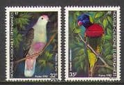 New Caledonia 1982 Birds  /  Dove  /  Parrot 2v set (n22396)