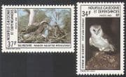 New Caledonia 1983  Birds/ Barn Owl/ Osprey/ Raptors/ Nature/ Wildlife 2v set (n22395)