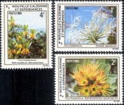New Caledonia 1983  Flowers/ Plants/ Trees/ Nature/ Lily/ Myrtle 3v set (n46336)