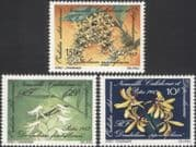New Caledonia 1983 Orchids/ Flowers/ Plants/ Nature 3v set (n45345)