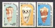 New Caledonia 1984 Sea Shells  /  Marine life 3v set n22524