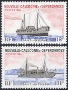 New Caledonia 1984 Ships/ Boats/ Freighter/ Commerce/ Trade/ Business/ Nautical 2v set (n22466)