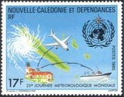 New Caledonia 1985 Meteorology Day/ Plane/ Ship /Map/ Weather/ Radio/ Aviation/ Transport 1v  n24240