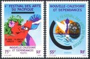 New Caledonia 1985 Pacific Arts Festival/ Triton Shell Trumpet/ Music/ Emblem/ Animation 2v set (n42133)