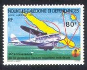 New Caledonia 1985 Rapide  /  Plane  /  Aircraft  /  Map  /  Aviation  /  Transport 1v (n22387)