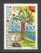 New Caledonia 1985 Tree  /  Flowers  /  Conservation 1v  n22390