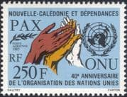 New Caledonia 1985 United Nations 40th/ Hands/ UN Emblem/ Peace/ Pax 1v (n45352)