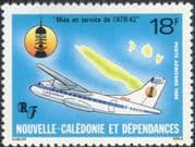 New Caledonia 1986 ATR-42/ Planes/ Aircraft/ Map/ Aviation/ Transport 1v (n45366)