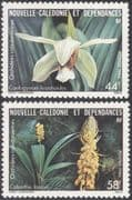 New Caledonia 1986 Indigenous Plants/ Orchids/ Flowers/ Nature 2v set (n44067)