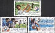 New Caledonia 1987 Golf/ Rugby/ Athletics/ Sports/ South Pacific Games 3v (n45339)