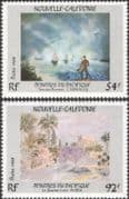 New Caledonia 1988 Pacific Painters/ Art/ Artists/ Boats/ Houses/ Palm Trees/ Palms 2v set (n45341)