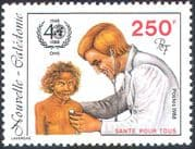 New Caledonia 1988 WHO 40th Anniversary/ UN/ Medical/ Health/ Welfare/ Doctor 1v (n42134)