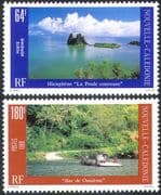 New Caledonia 1989 Landscapes/ Tourism/ Views/ Car Ferry/ Palm Trees/ Transport / Boats/ Palms/ Holidays 2v set (n42137)