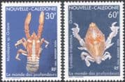New Caledonia 1990 Marine Animals/ Crab/ Lobster/ Nature/ Wildlife 2v set (n45347)