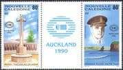 New Caledonia 1990 Military Cemetery/ Memorial/ WWII/ Soldier/ StampEx 2v set gutter (n42136)