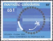 New Caledonia 1990 South Pacific Conference/ Palm Tree Emblem/ Nature/ Trees/ Palms 1v (n45799)