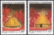 New Caledonia 1991 Traditional Houses/ Buildings/ Palm Trees/ Nature 2v set (n46108)