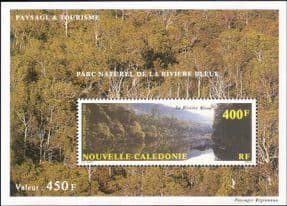 New Caledonia 1992 National Park/ River/ Trees/ Nature/ Conservation/ Environment 1v m/s (b3278c)