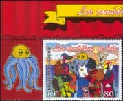 New Caledonia 2006 Cat/ Dog/ Owl/ Turtle/ Animals/ /Parrot/ Duck/Birds/ Animation 1v + lbl (n31707a)