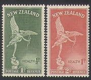 New Zealand 1947 Health  /  Welfare Fund  /  Eros  /  Statue 2v set (n35390)