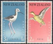 New Zealand 1959 Birds  /  Health  /  Teal  /  Nature  /  Welfare 2v set (n20660)