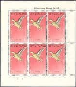 New Zealand 1959 Birds  /  Health  /  Welfare Fund  /  Teal  /  Nature  /  Ducks 6v shtlt (b768)