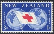 New Zealand 1959 Red Cross/ Medical/ Health/ Welfare/ Flag/ Map 1v (n24490)